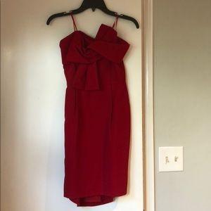 Adelyn Rae formal strapless red dress